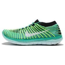 Nike Free RN Motion Flyknit Run Green Black Womens Running Shoes 834585-300