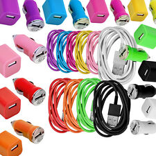 USB Car AC Wall Charger USB Data Sync Cable for iPhone 5 5C 5S iPod Touch 5 US
