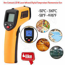 Handheld Digital Thermometer LCD Temperature IR Laser Infrared Industrial LOT DB
