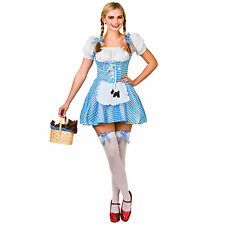 Ladies Dorothy Wizard Of Oz Fancy Dress Up Halloween Role Play Costume Outfit