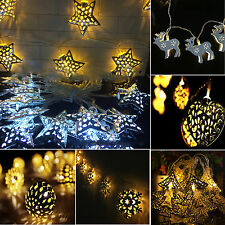 10 LED Battery Powered String Fairy Lights Party Wedding Holiday Decor LED Lamps