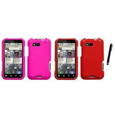 For Motorola Defy MB525 Rigid Plastic Hard Snap-On Case Phone Cover Stylus Pen