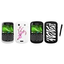 For BlackBerry Bold Touch 9900 9330 Silicone Design Skin Soft Case Stylus Pen