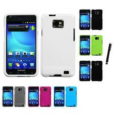 For Samsung Galaxy S2 i9100 Rigid Plastic Hard Snap-On Case Cover Stylus Pen