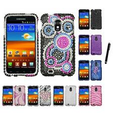 For Samsung Epic Touch 4G D710 Diamond Diamante Bling Rhinestone Case Stylus Pen
