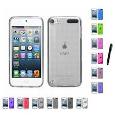 For Apple iPod Touch 5th 6th Gen TPU Rubber Skin Flexible Case Cover Stylus Pen