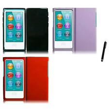 For Apple iPod Nano 7th Gen Rubberized Matte Snap-On Hard Case Cover Stylus Pen