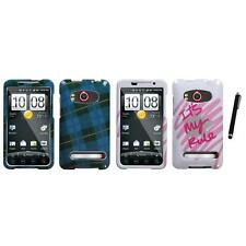For HTC Evo 4G Design Snap-On Hard Case Phone Cover Stylus Pen