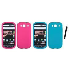 For Samsung Stratosphere 3 Silicone Skin Rubber Soft Case Phone Cover Stylus Pen