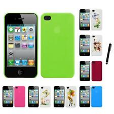 For Apple iPhone 4/4S Snap-On Rear Hard Back Cover Phone Case Stylus Pen
