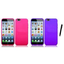 For Apple iPhone 6/6S [4.7] Silicone Skin Soft Rubber Case Cover Stylus Pen