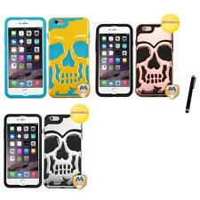 For iPhone 6/6S Plus [5.5] Hybrid Skull Skeleton Hard Case Stylus Pen