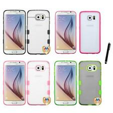 For Samsung Galaxy S6 TPU Hard Case Skin Phone Cover Stylus Pen