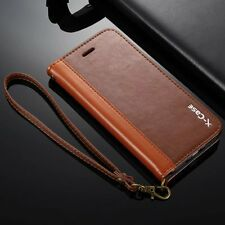 For Apple iPhone 6 6s 7 Plus Genuine Leather Wallet Card Case Stand Flip Cover