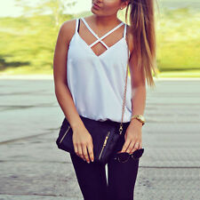 Women Fashion Vest Top Sleeveless Shirts Blouse Casual Tank Tops T-Shirt Stylish