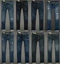 ABERCROMBIE & FITCH MENS JEANS SLIM STRAIGHT SKINNY CLASSIC DENIM PANTS NWT A&F