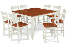 "54"" SQUARE COUNTER HEIGHT TABLE DINING ROOM SET W. 18"" BUTTERFLY LEAF"