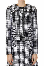 VIKTOR & ROLF New Woman Houndstooth Silk Blend Jacket Blazer Made in Italy NWT