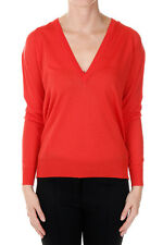 PROENZA SCHOULER New woman Red V Neck Sweater Merino Wool Made in Italy