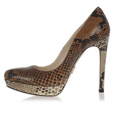 PRADA New woman brown Heel snake Python Leather Pumps Shoes Made in Italy
