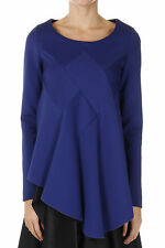 VIKTOR&ROLF New woman blue Long sleeve Round Neck Top Tee Made in Italy