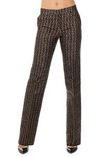 ETRO New woman blue Printed Linen Silk Pants Trousers Made in Italy NWT