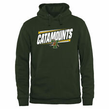 Vermont Catamounts Green Double Bar Pullover Hoodie - College