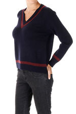 MARNI New woman Dark Blue Sweater Cashmere V neck Jumper Made in Italy