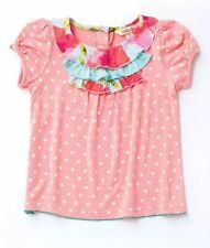 MATILDA JANE Chiffon Cake Top TEE SIZE 2 4 6 HAPPY & FREE Ruffle PEACH CUTE!