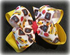 School Bus Boutique Hair Bow Girls Big Double Layer Hairbow Apple Chalkboard ABC