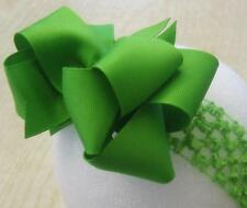 Lime Green Boutique Double Layered Hair Bow Baby Girls Summer Big Hairbows Clip