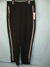 NWT Juicy Couture Black Beaded Accent  Women's Jogging Pants
