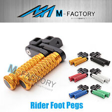 M-Grip Billet 40mm Rider Extended Foot Pegs Fit Yamaha TZR 250 87 88 89 90