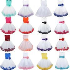 Flower Girl Dress Toddler Petals Tulle Formal Wedding Pageant Wedding Bridesmaid