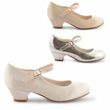 NEW GIRLS KIDS BUCKLE STRAP CASUAL PARTY COMFY MARY JANE SHOES PUMPS UK SIZE 8-2