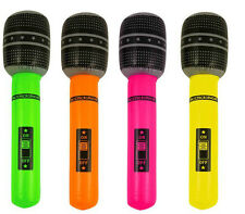 40cm Inflatable Microphone: Choose From 4 Colours Karaoke Party Bag Birthday