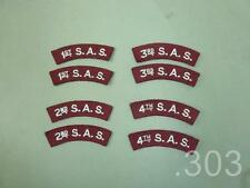 Pair 1st 2nd 3rd or 4th SAS Special Air Service Shoulder Titles Badges Patches