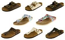 Ladies Coolers Faux Leather Mule Sandals Womens Casual Mules Size 4 5 6 7 8