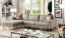 Lauren-Contemporary Style 2pc Sectional Sofa Set Right Facing Sofa & Left Chaise