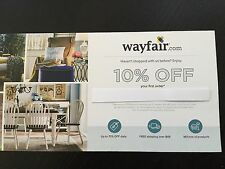 WAYFAIR Coupon 10% Off Entire Online Order Expire 2/28/2017 electronic delivery