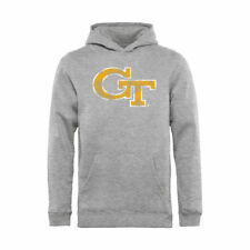 Georgia Tech Yellow Jackets Youth Ash Classic Primary Logo Pullover Hoodie