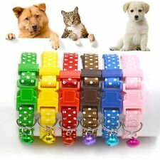 Animal Neck Chain Pet Polka Bell Collar Cat Kitten Dog Puppy Nylon Fabric