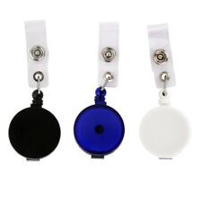 Retractable Reel Pull Business ID Badge Tag Key Card Holder Metal Clip 4 Colors