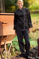 Uncommon Threads Yarn Dyed Baggy Chef Pant Black & White Pinstripe XS-6XL, 4003