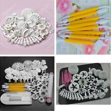 47pcs Sugarcraft Cake Decorating Fondant Icing Plunger Cutters Tools New Mold -Y