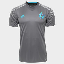 Flamengo Goalkeeper Gray Soccer Football Jersey Shirt - 2016  Adidas Brazil