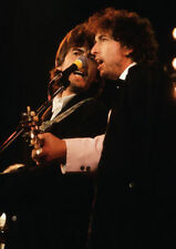 Art print POSTER Bob Dylan and George Harrison Performing
