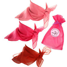 Valentine Sweetheart Scarf Set - Pink, Rose Pink, and Red Sheer Chiffon Scarves
