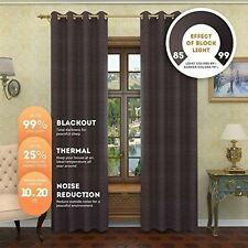 NEW Solid Thermal Insulated | Premium Grommet Blackout Draperies And Curtains