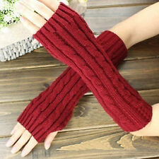 Pop Women Men's Gloves Arm Warmer Long Fingerless knit Mitten Winter Warm Glove
